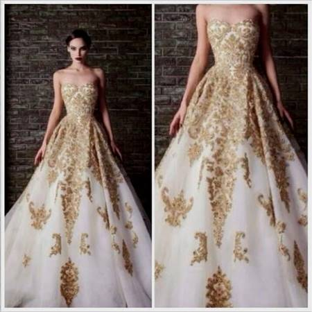 beautiful gold ball gowns