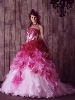 beautiful pink wedding dresses