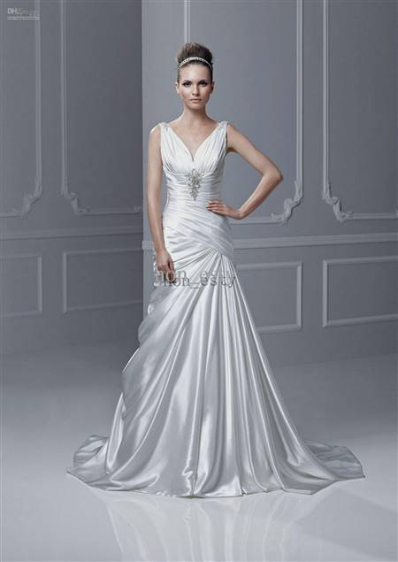 beautiful silk wedding dresses