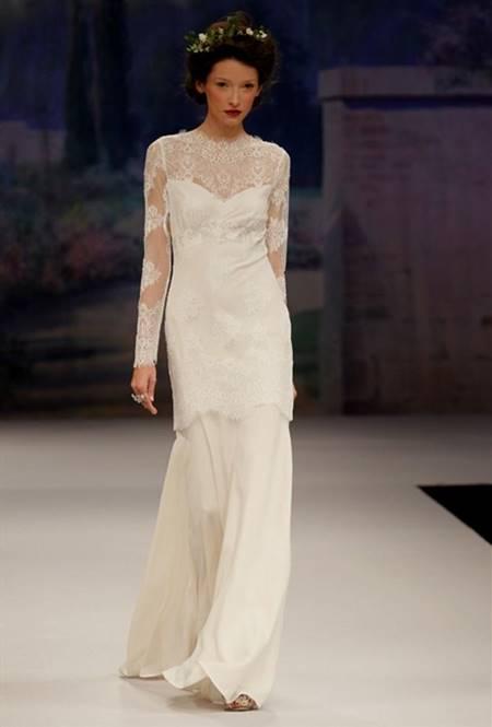 beautiful wedding dress with sleeves