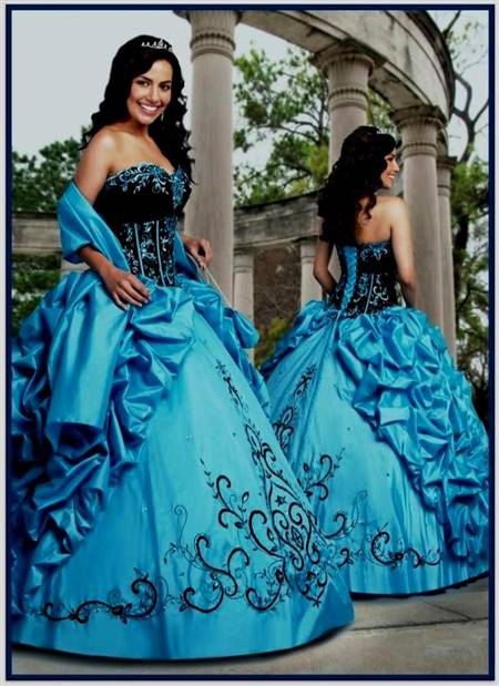 black and baby blue wedding dresses