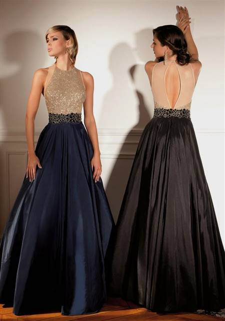 black and gold ball gown with sleeves