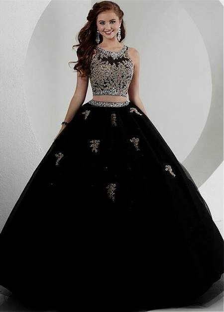 black and gold masquerade ball gowns