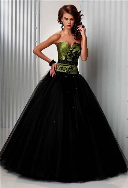 black and lime green wedding dresses