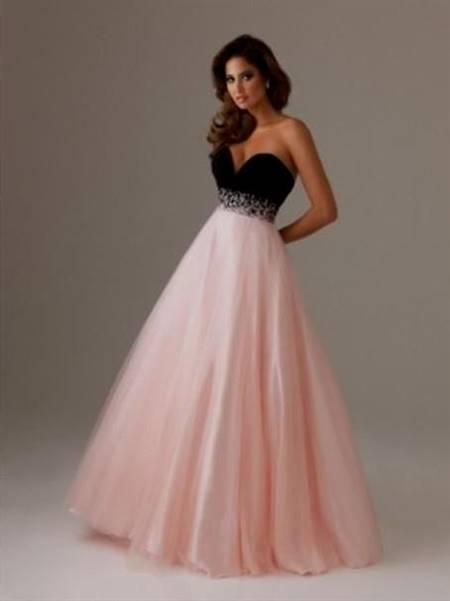 black and pink prom dress