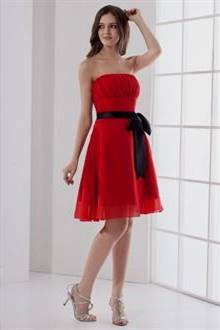 black and red dress for wedding guest