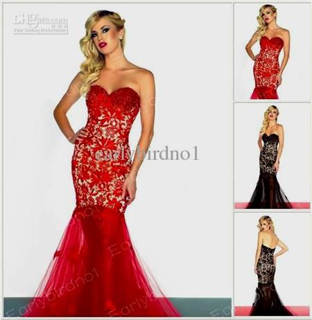 black and red prom dresses