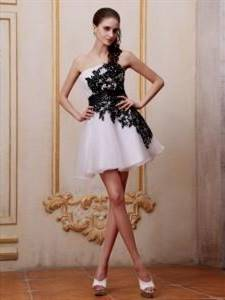 black and white gown with sleeves for js prom