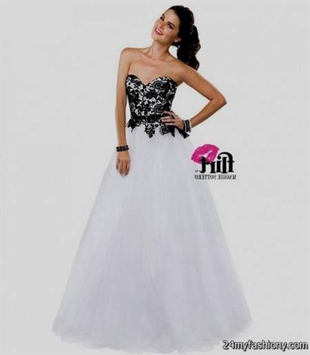 black and white prom gowns