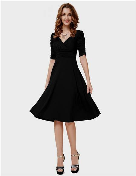 black casual cocktail dresses