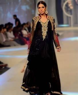black chiffon dress pakistani