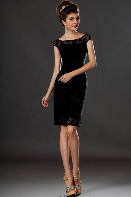 black cocktail dress knee length