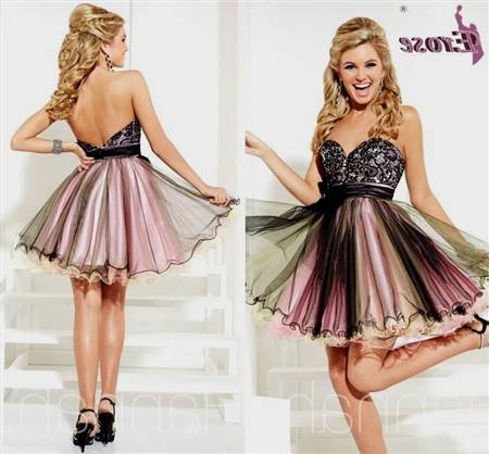 black cocktail dresses for prom with sleeves