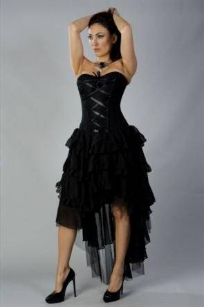 black corset prom dresses