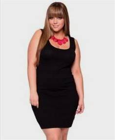 black dress with red necklace