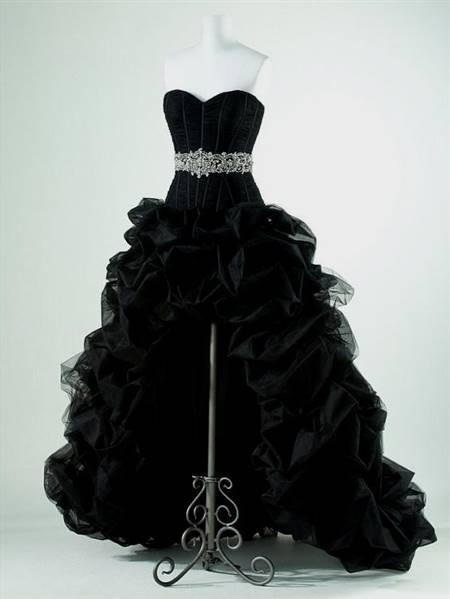 black high low prom dresses