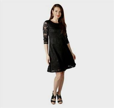 black lace dress with 3/4 sleeves
