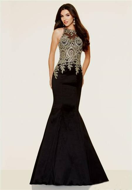 black mermaid dress