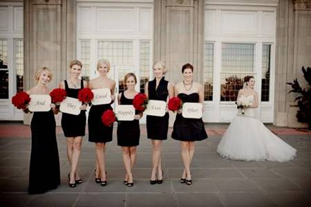 7743ef2397f black red and white bridesmaid dresses