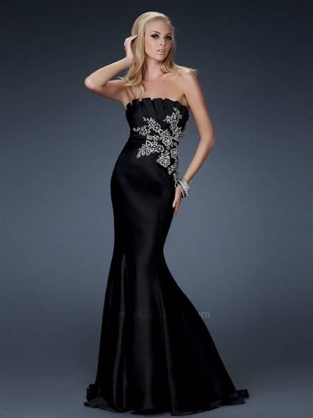 black satin mermaid dress