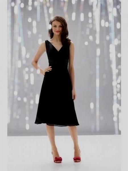 black tea length dress