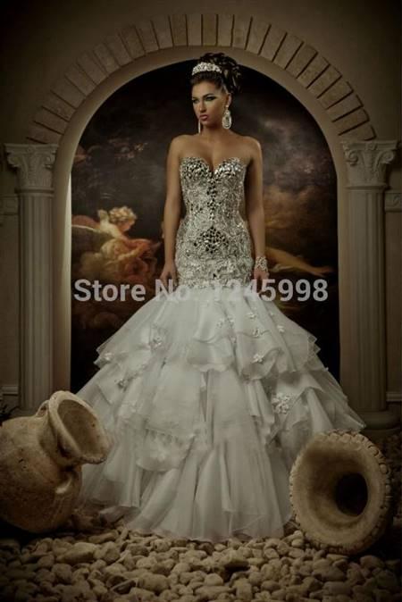 Bling Corset Mermaid Wedding Dresses B2b Fashion