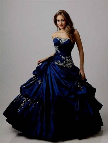 blue and black wedding dresses