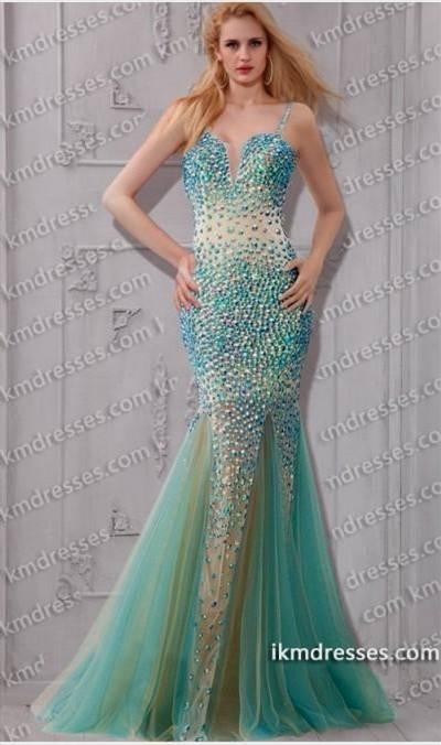 blue and green mermaid dress