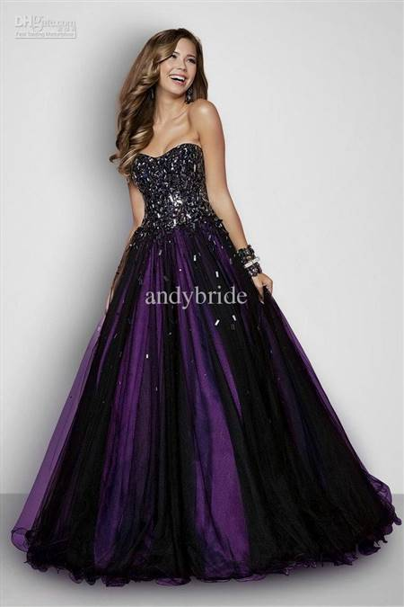 blue and purple ball gowns