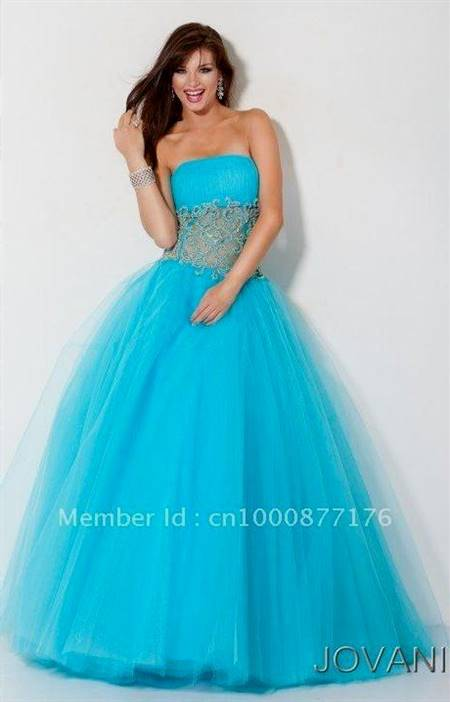 blue ball gown for prom