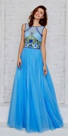 blue ball gown prom dresses