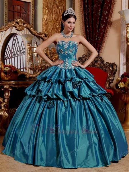 blue ball gowns for prom