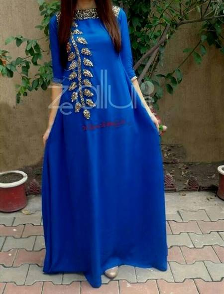 blue dresses pakistani simple