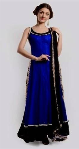 blue dresses pakistani simple