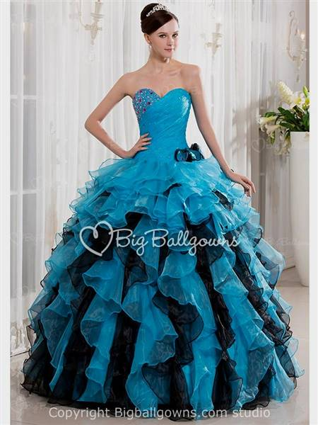 blue gown for debut