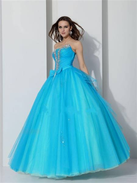blue gown for prom