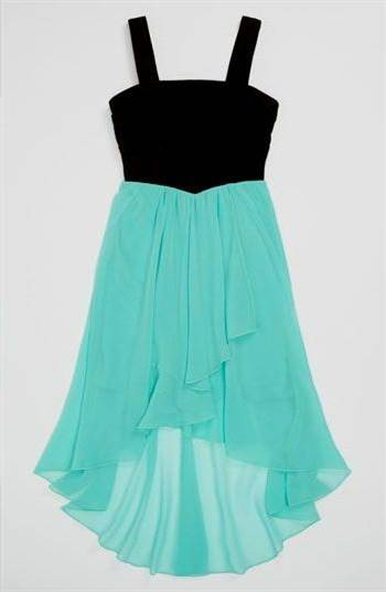 blue high low dresses for kids