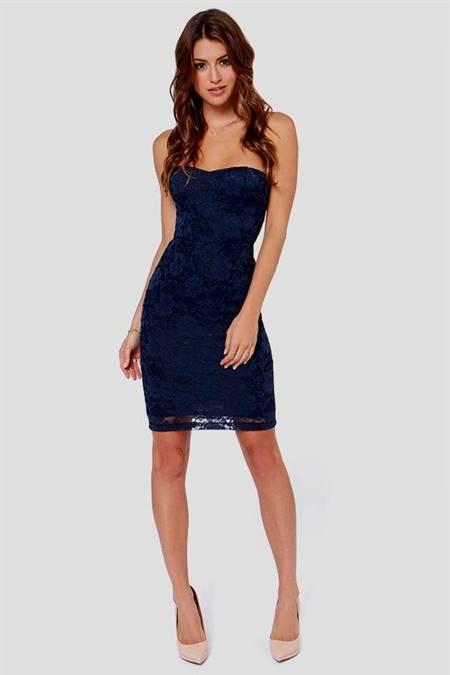 blue lace cocktail dresses