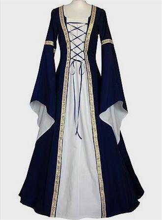 blue medieval dresses