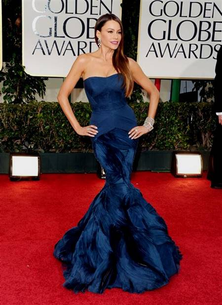 blue mermaid dress red carpet