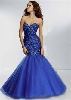 blue mermaid prom dresses