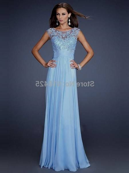 blue prom dresses with lace