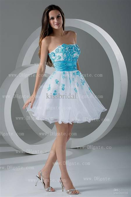 blue short prom dress
