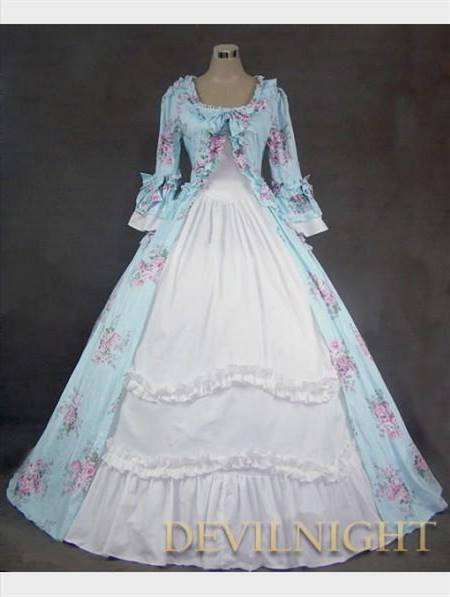 blue victorian ball gown
