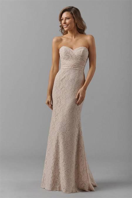 blush lace bridesmaid dresses