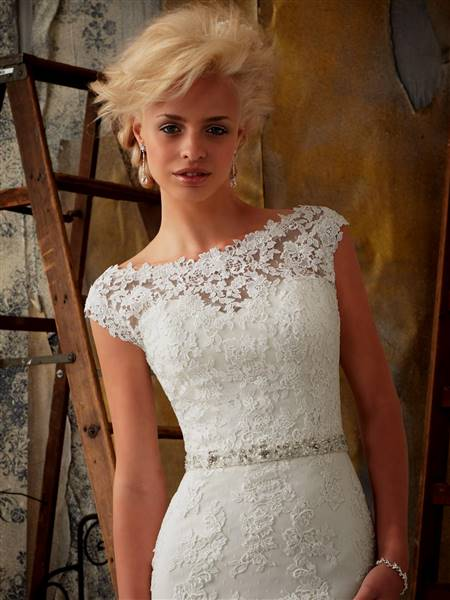 bridesmaid dresses with lace cap sleeves