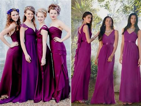 bright purple bridesmaid dress