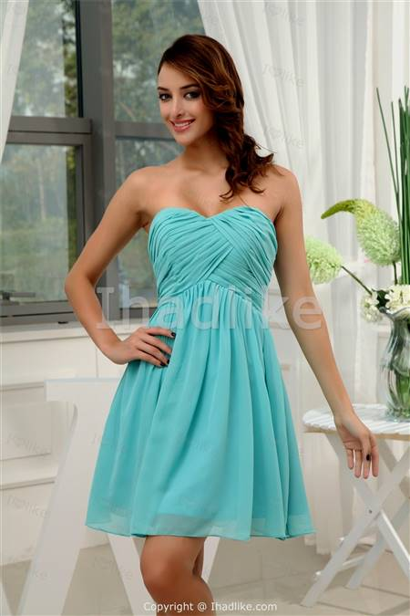 bright turquoise bridesmaid dresses