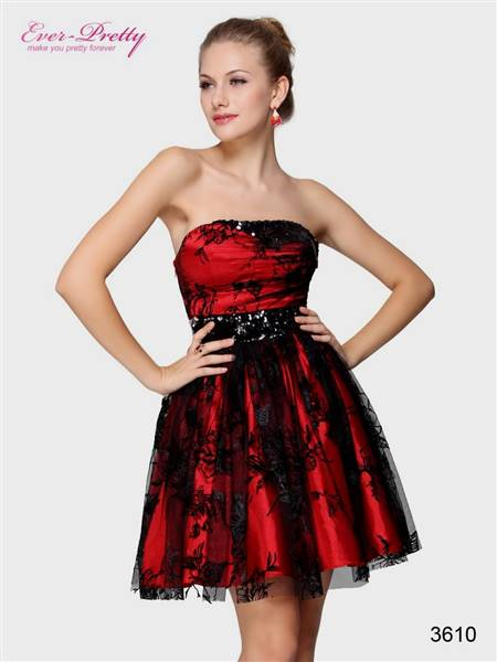casual black and red dress