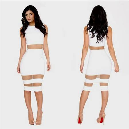 casual cocktail white dresses with sleeves